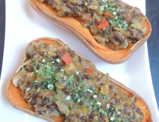 curry vegetable stuffed butternut squash 5